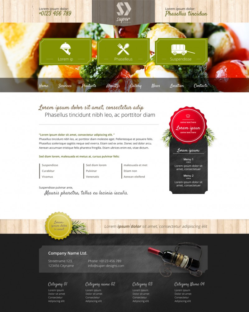 Tasty Restaurant PSD Template
