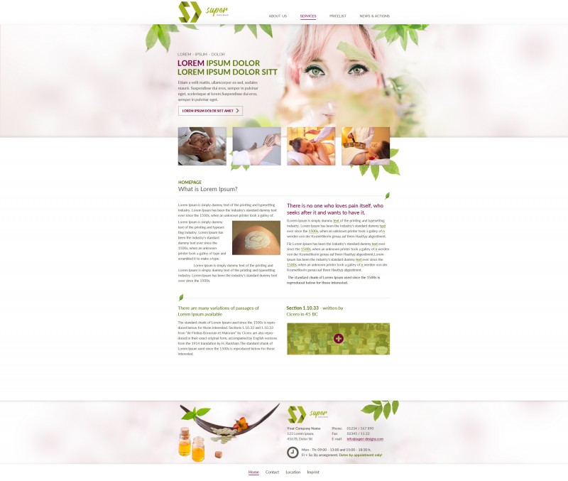 SPA and Massages Friendly HTML Template