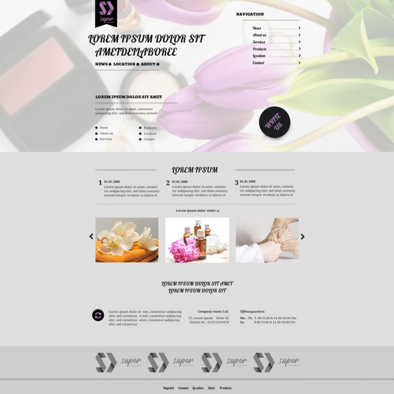 Classy SPA and Massages PSD Template