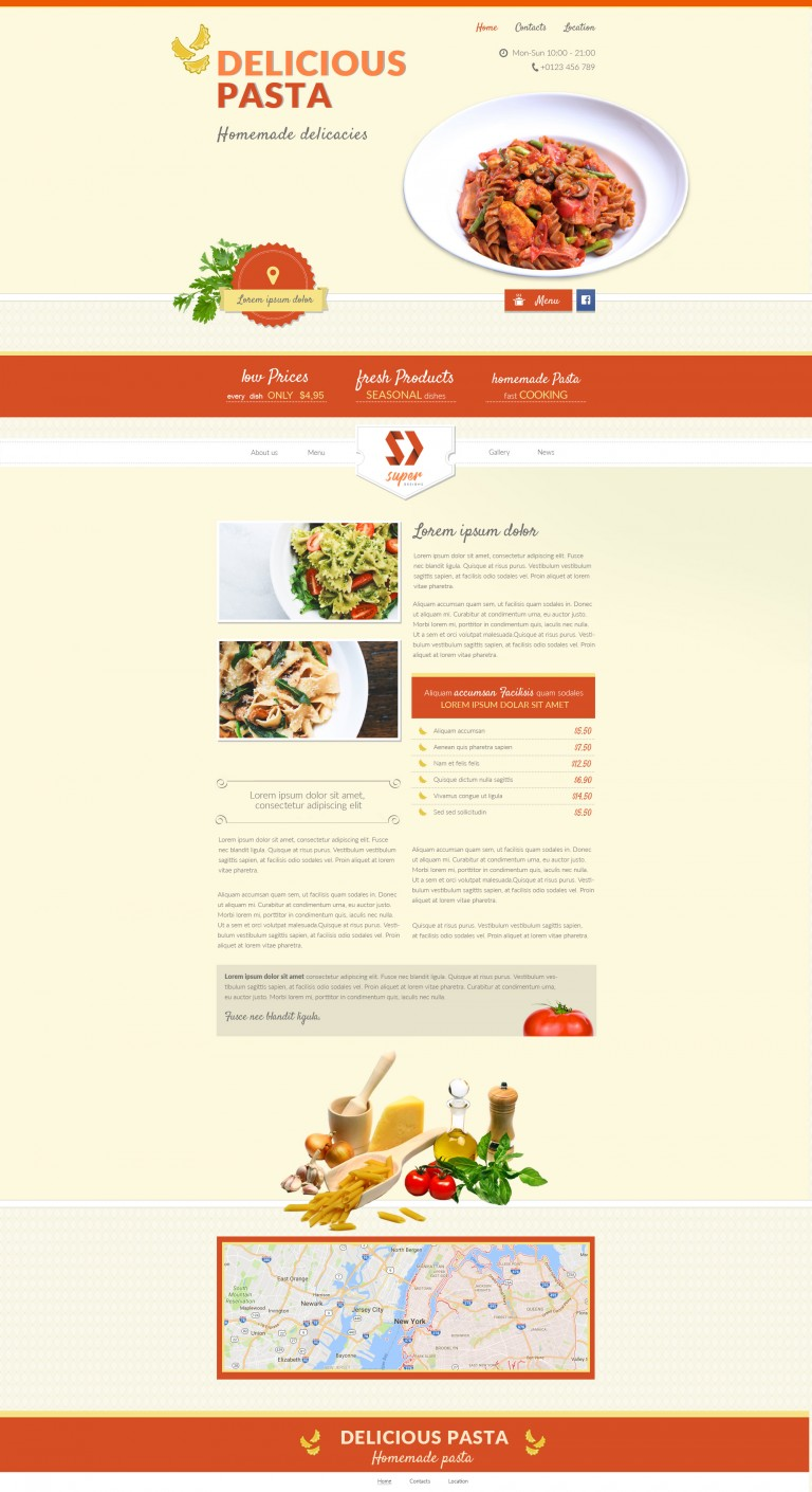 Italian Food Restaurant PSD Template