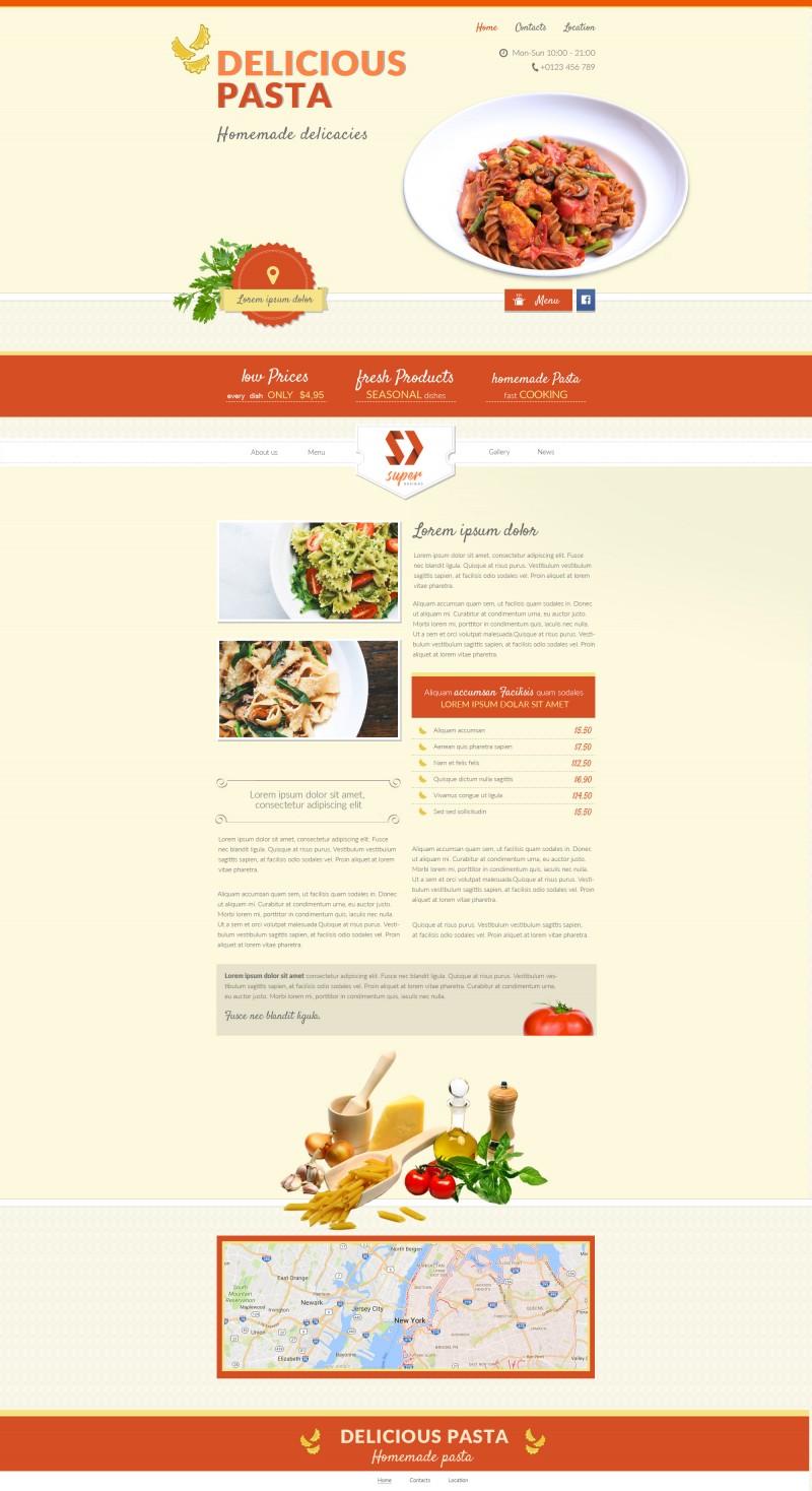 Italian food Restaurant HTML Template