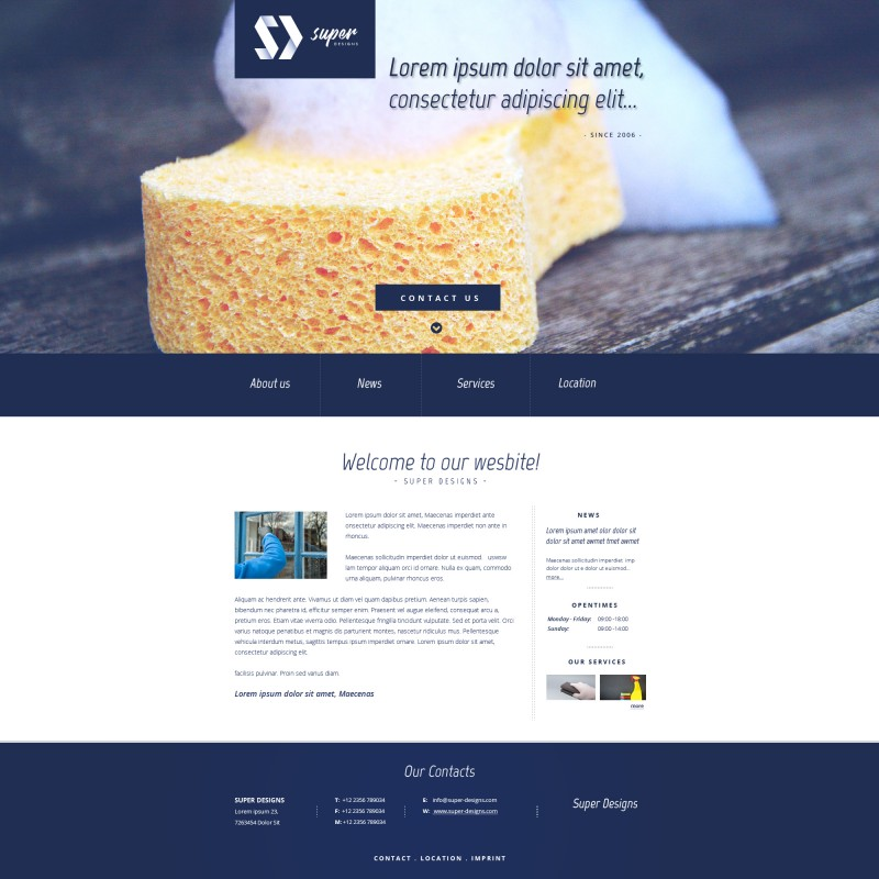 Cleaning Service PSD Template