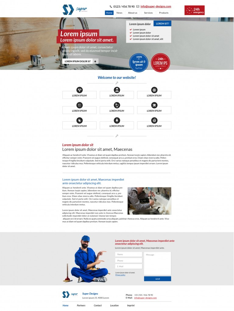 Neat Repair Services PSD Template