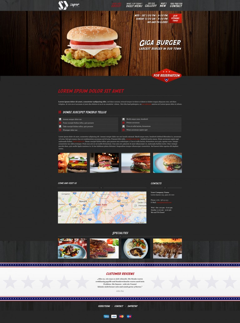 Giga Burger PSD Template