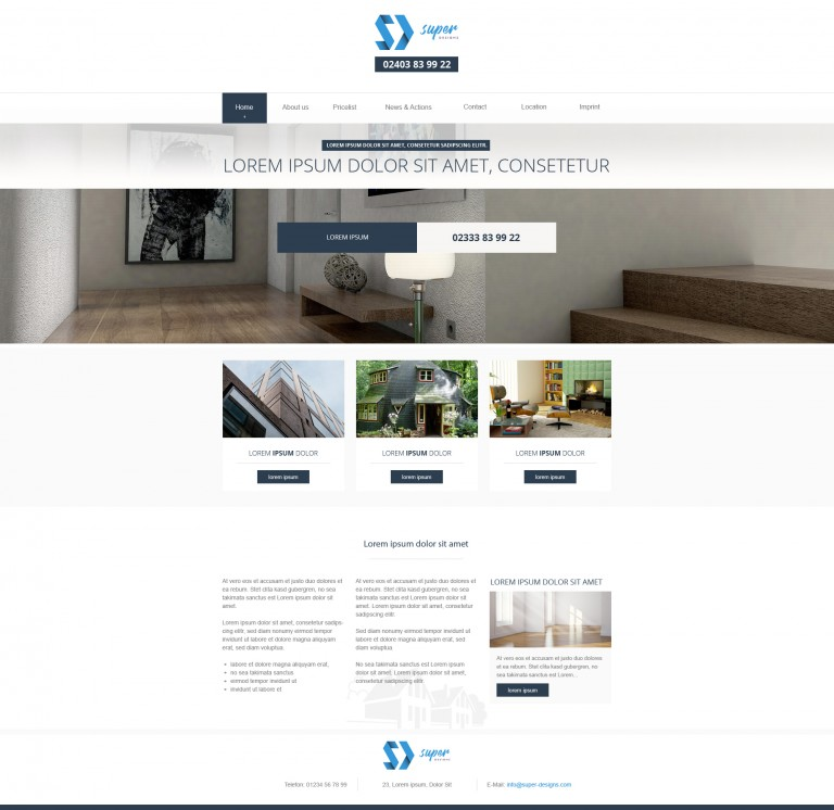 Modern Interior Furniture PSD Template