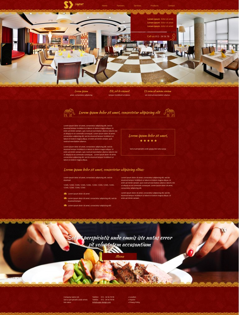 Luxury 360 Restaurant PSD Template