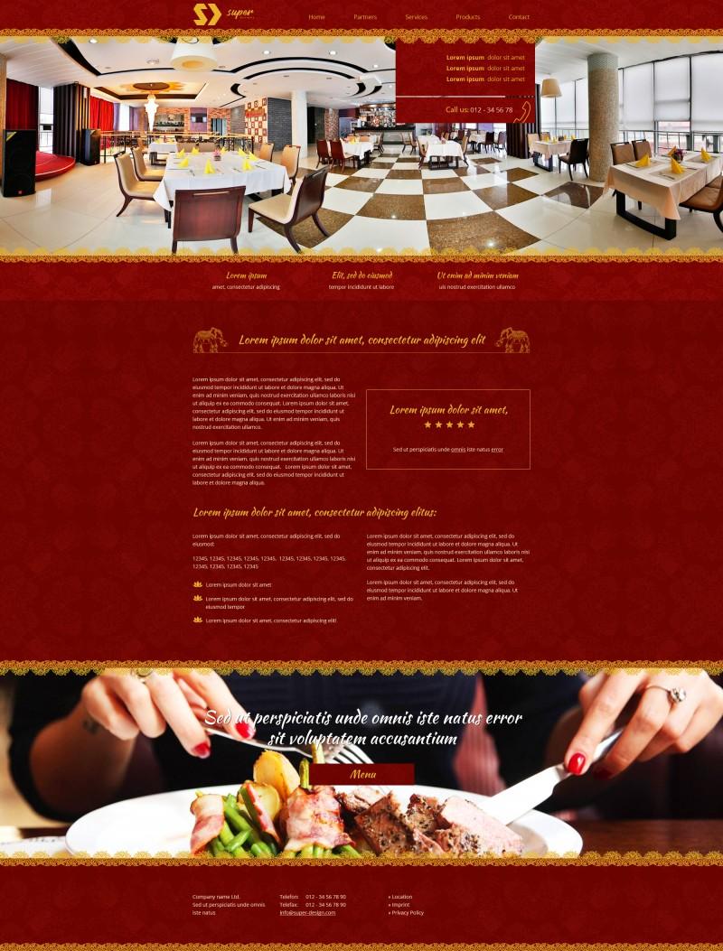 Luxury 360 Restaurant PSD Template