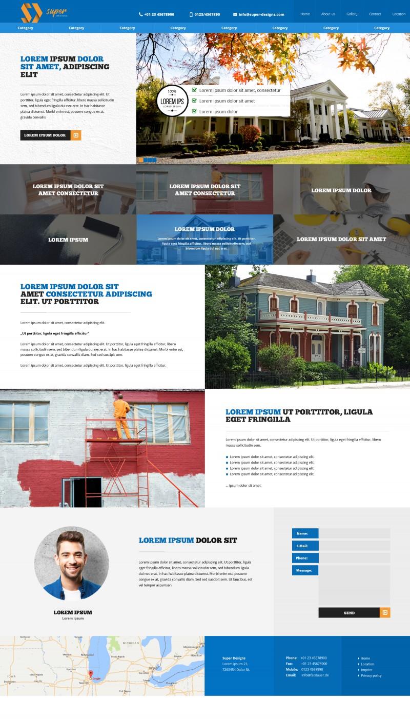 Creative Building PSD Template