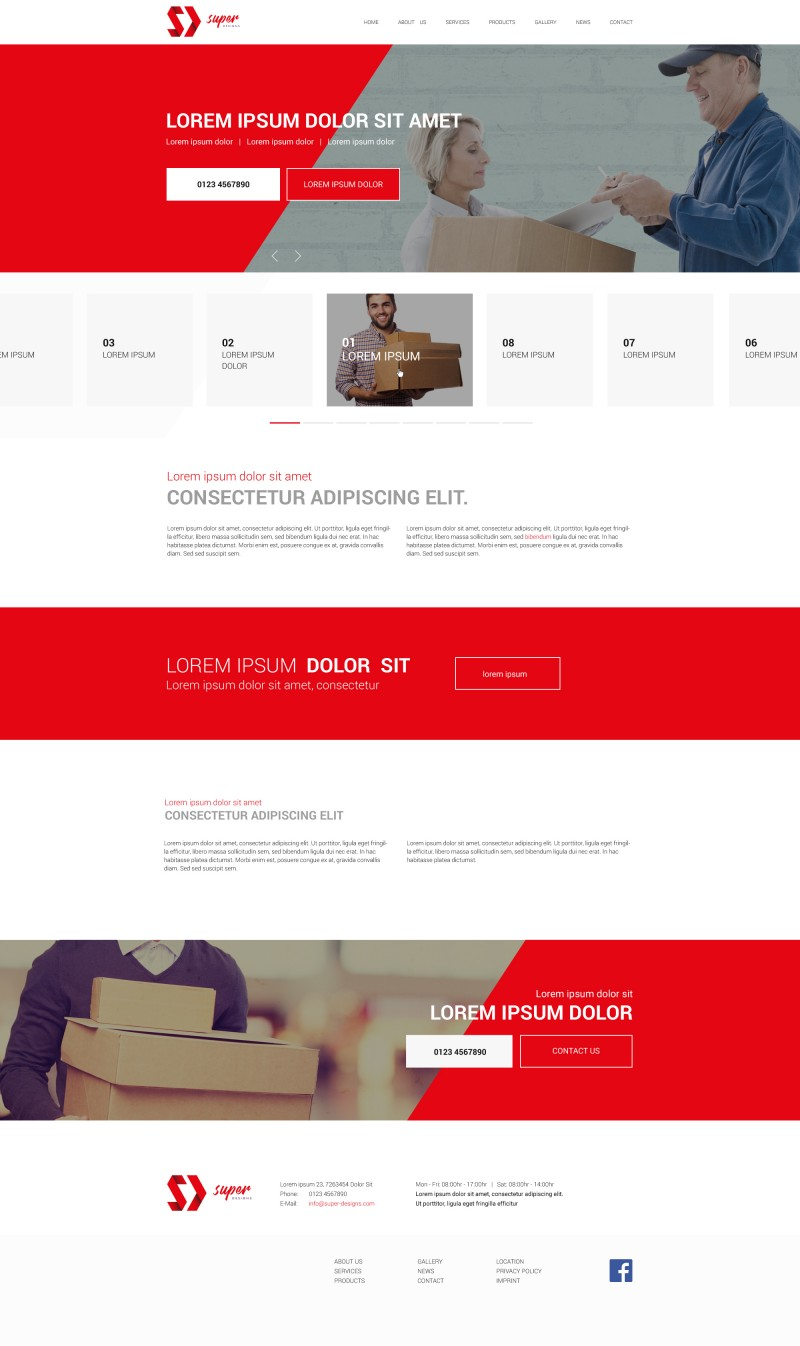 Red Success Business HTML Template