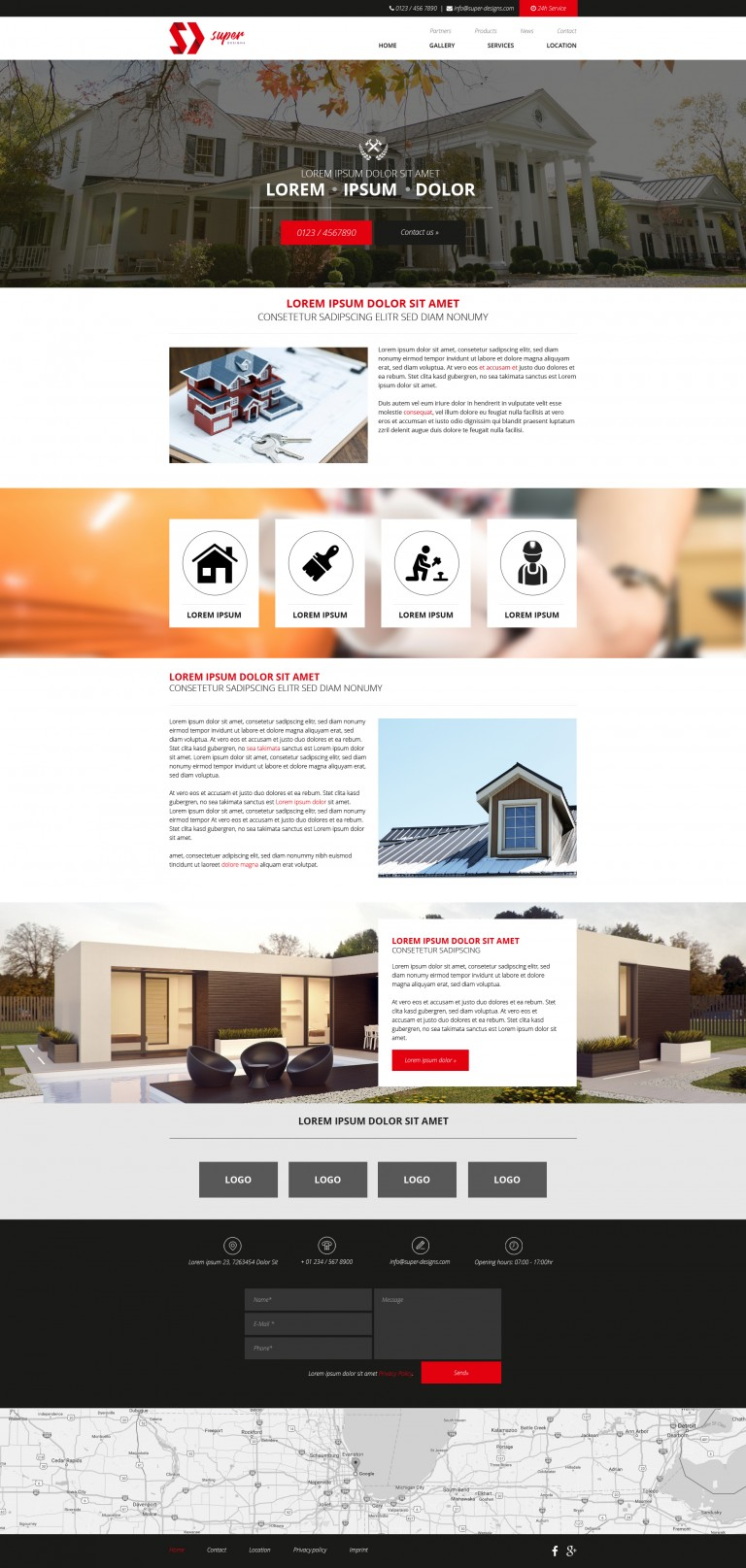 Design Building PSD Template