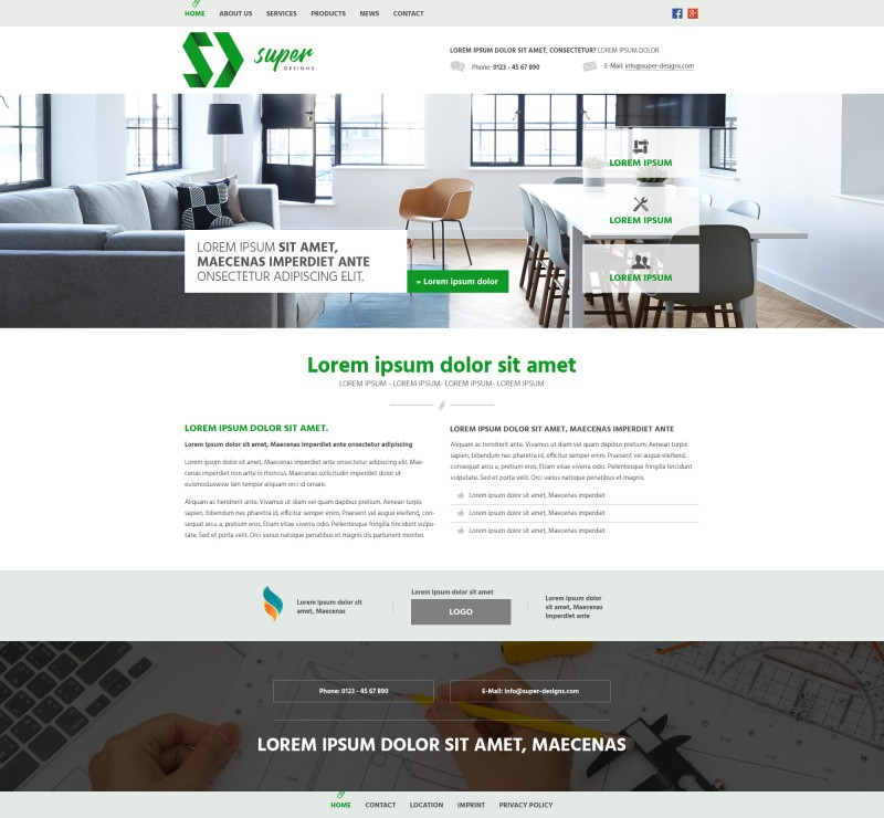 Green Business PSD Template