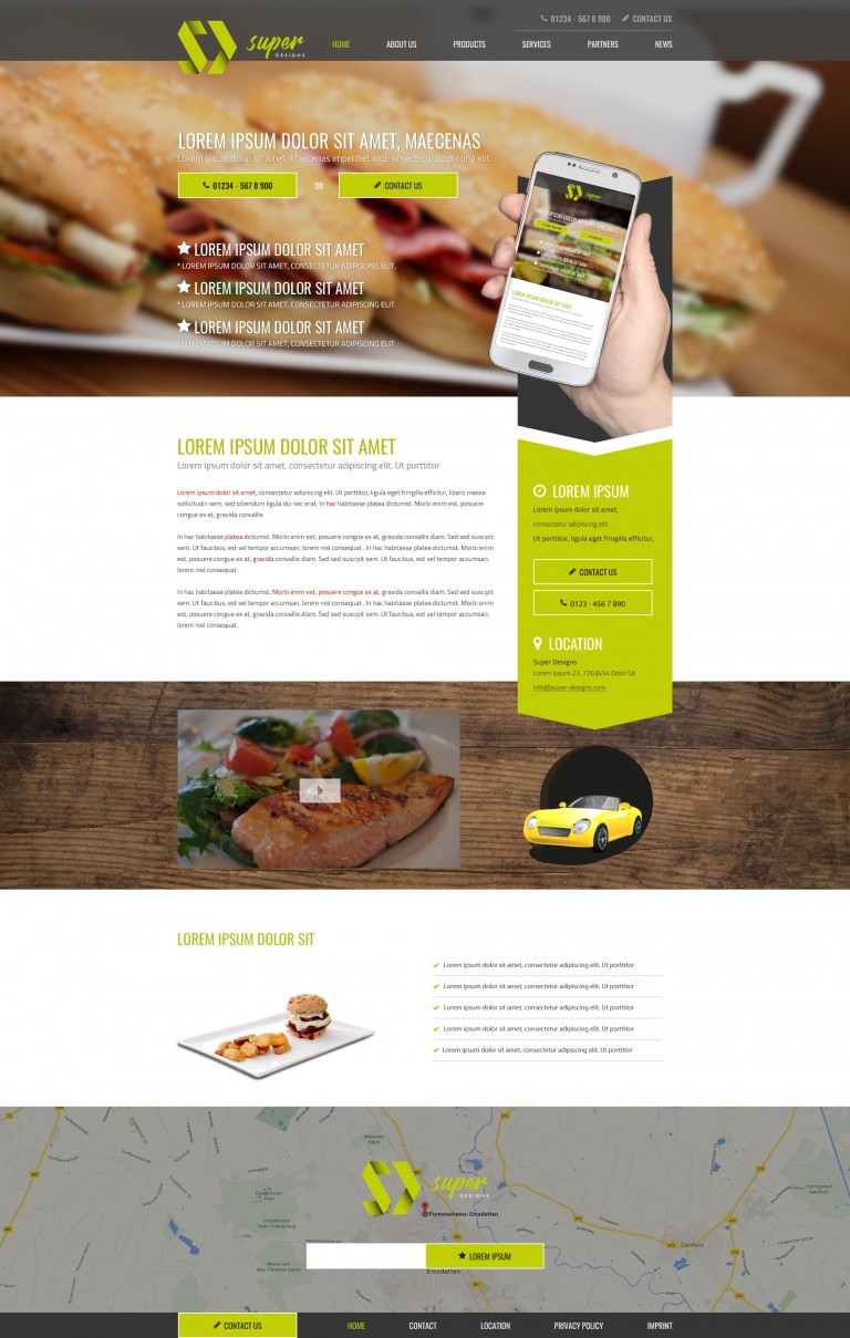 Tasty Food & Drinks PSD Template