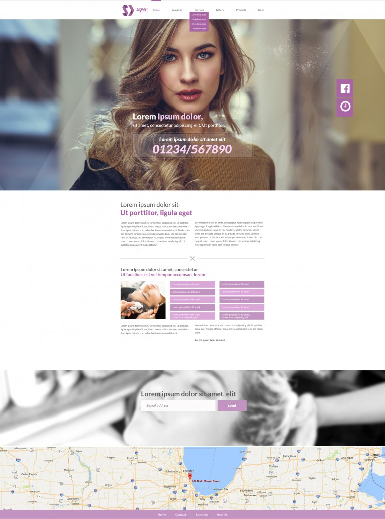 Pretty Woman Hair & Makeup PSD Template