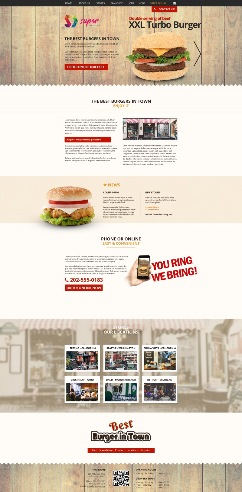 XXL Turbo Burger PSD Template