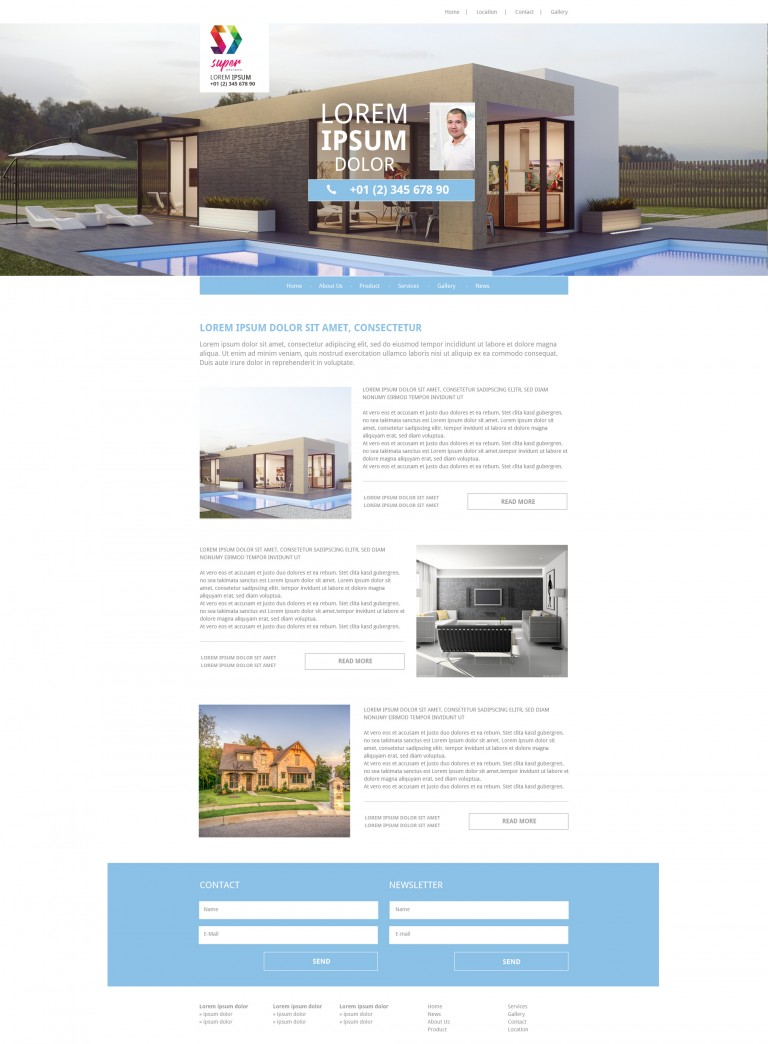 Dream Building PSD Template