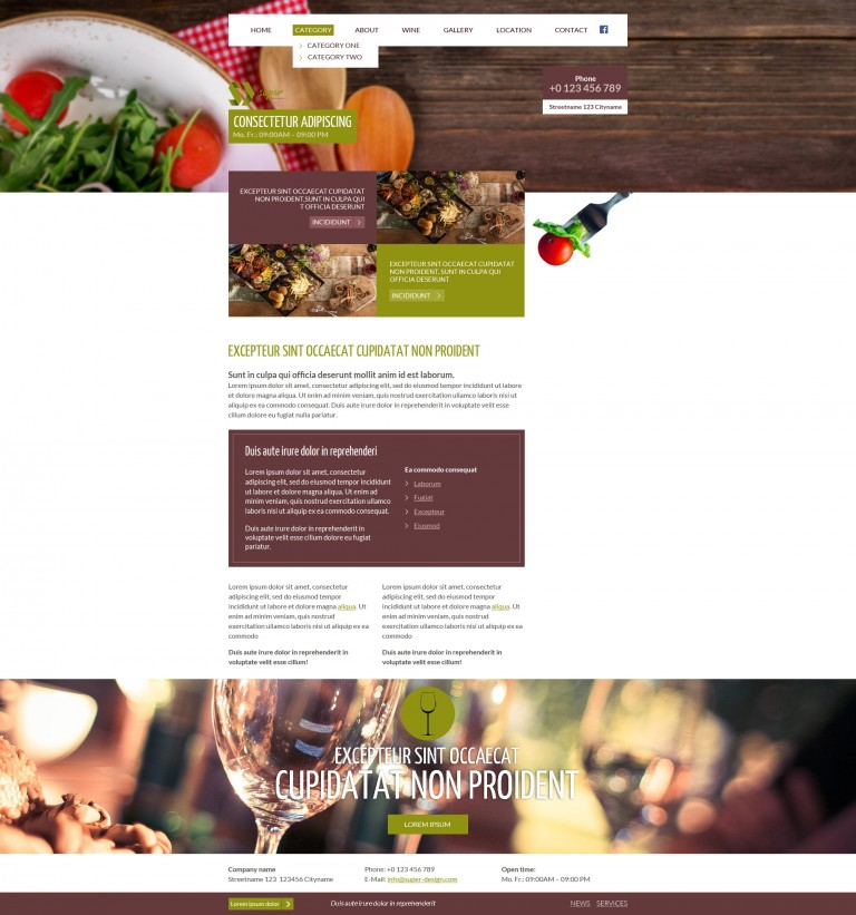 Casual Dining Restaurant PSD Template