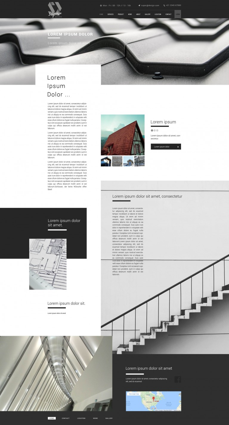 Roof Building PSD Template
