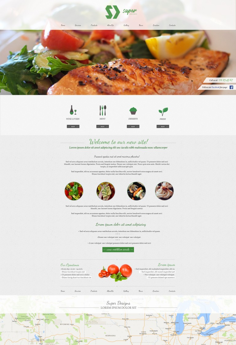 Delicious Restaurant PSD Template