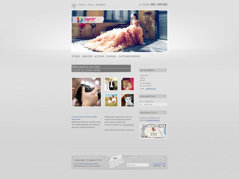 Photographer / Photo studio PSD template
