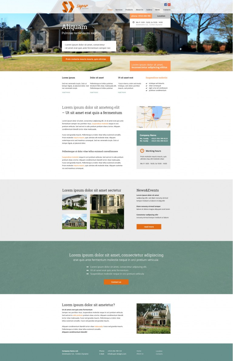Imagination Building PSD Template