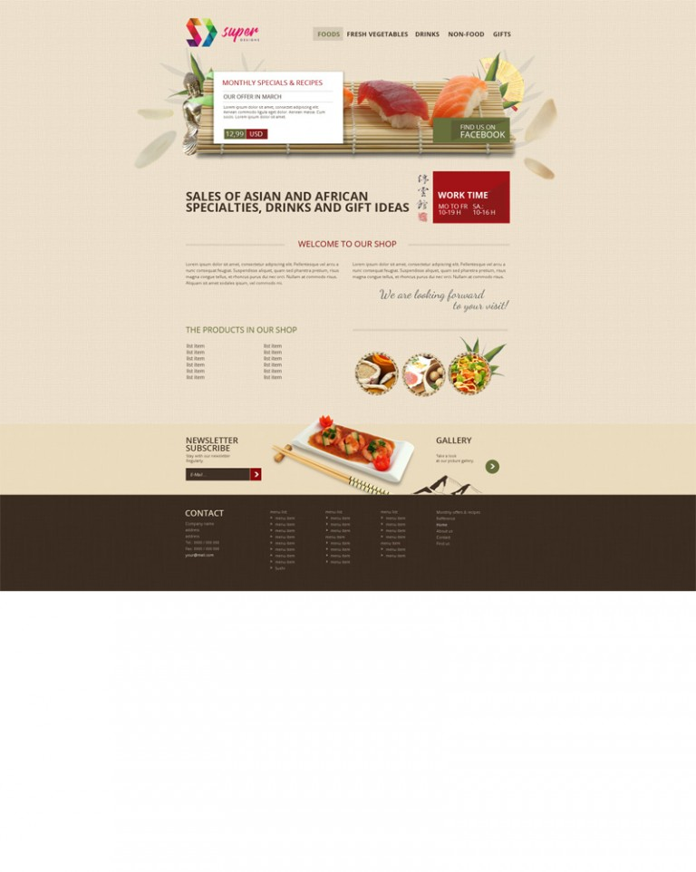 Asian PSD Template