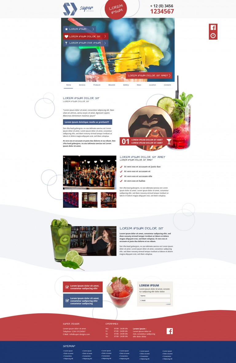 Fresh Food & Drinks PSD Template
