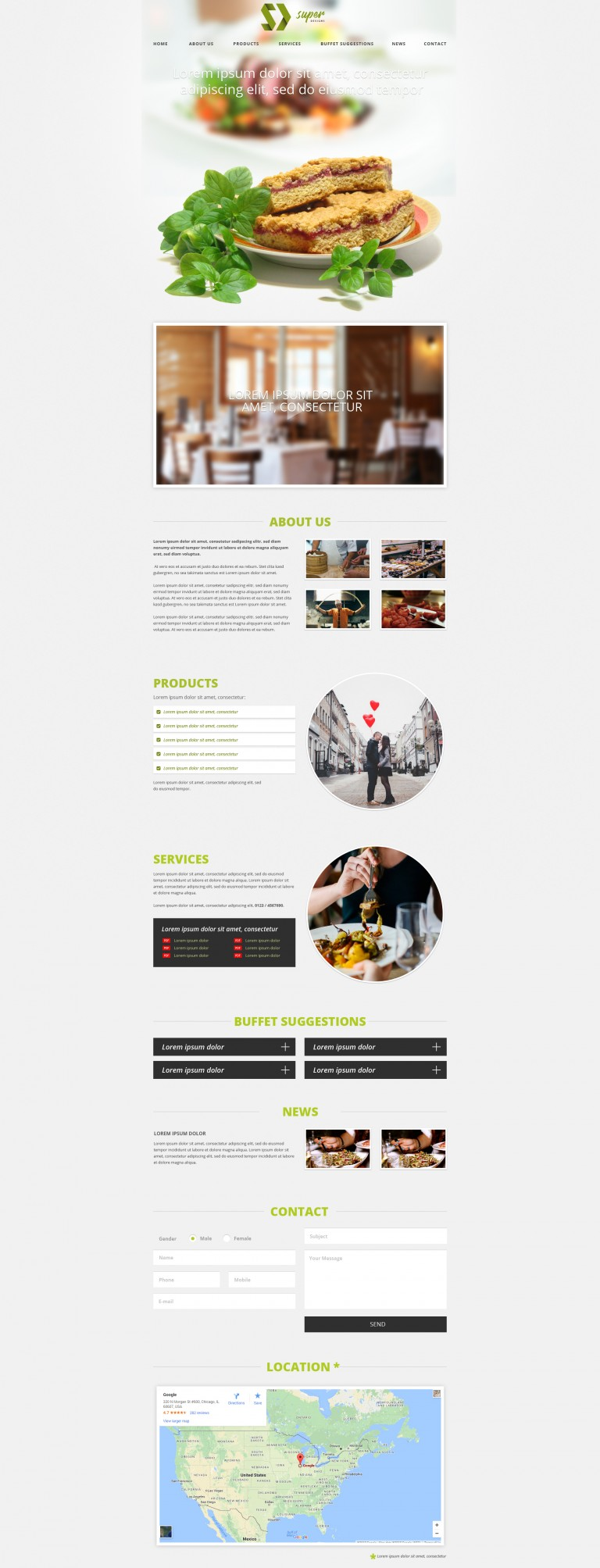 Lovely Restaurant PSD Template