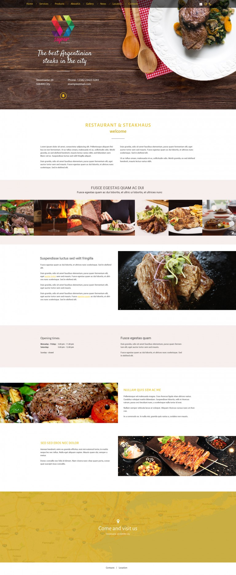 Steakhouse Restaurant PSD Template