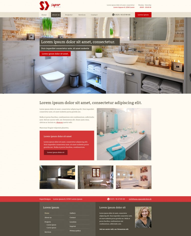 Bathrooms / Sanitary Wares PSD Template