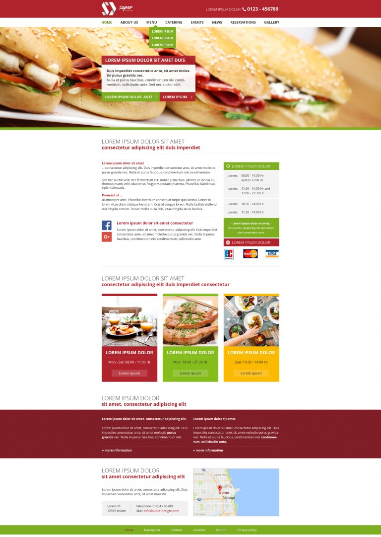 Sandwich Box HTML Template