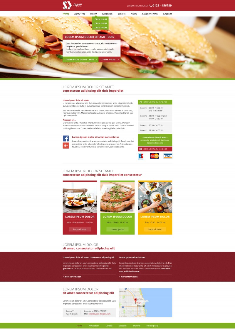 Sandwich Box HTML Template