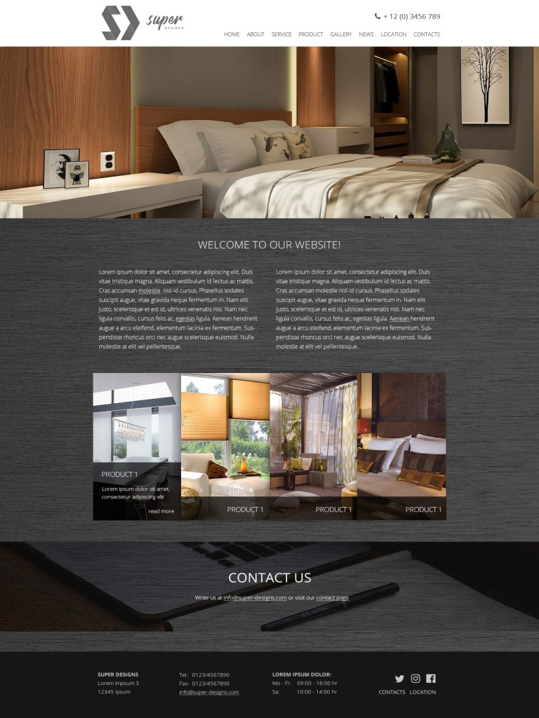 Interior Home Furniture PSD Template