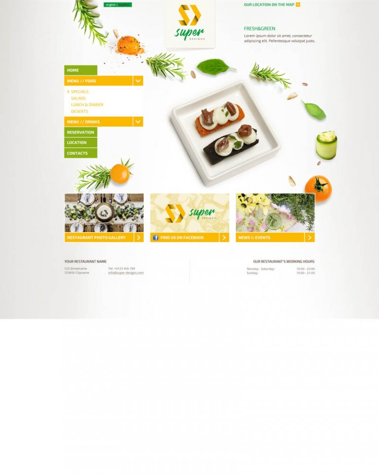 Fresh & Green PSD Template