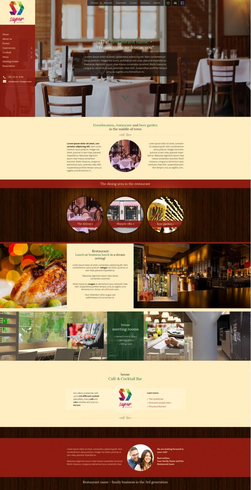 Classic Restaurant PSD Template