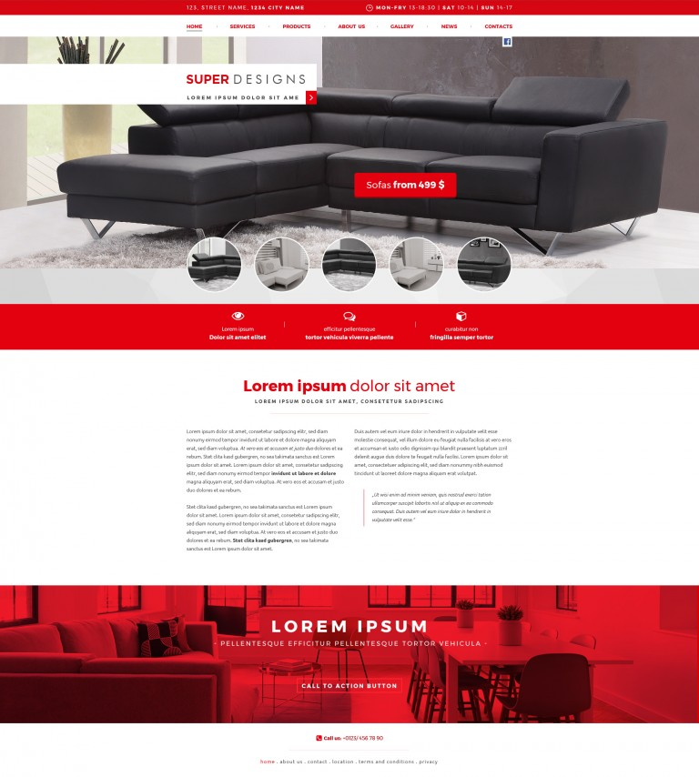 Red Dragon Furniture PSD Template
