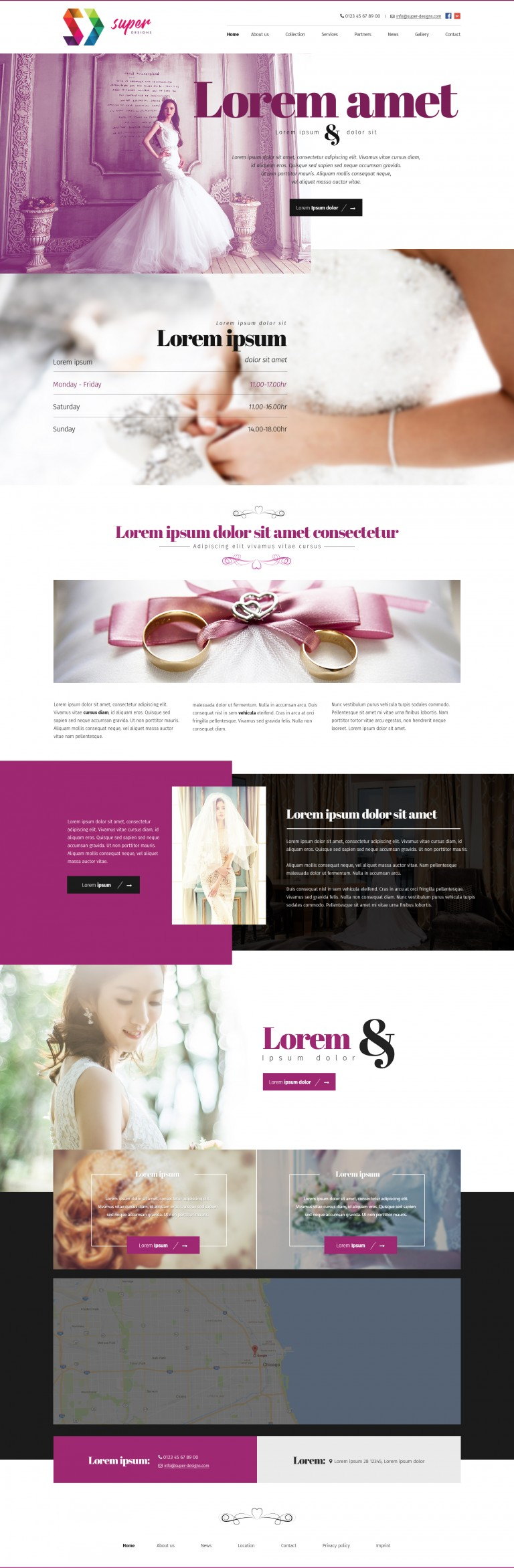 Sweet Bridal Clothing HTML Template