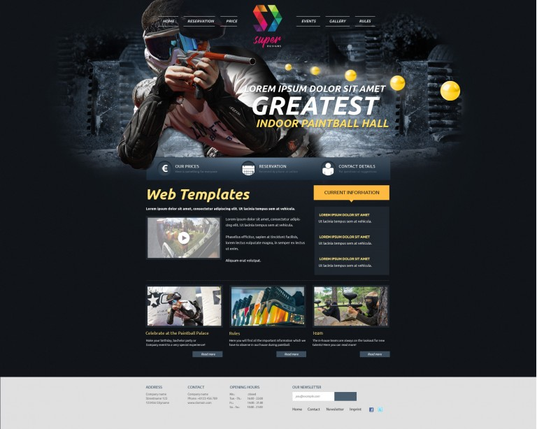 Paintball Modern HTML Template
