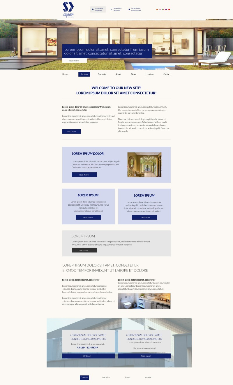 Royal Building PSD Template