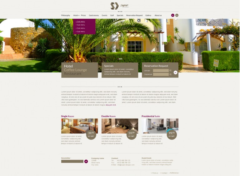 Luxury Resort PSD Template