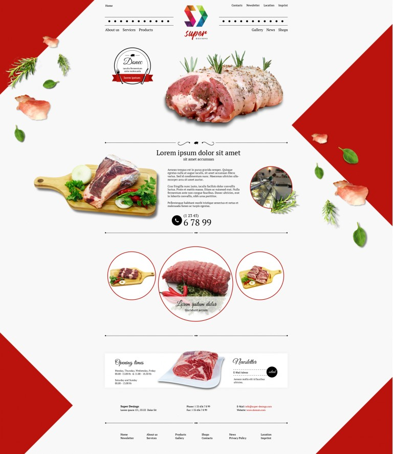 Butcher's Shop Red HTML Template