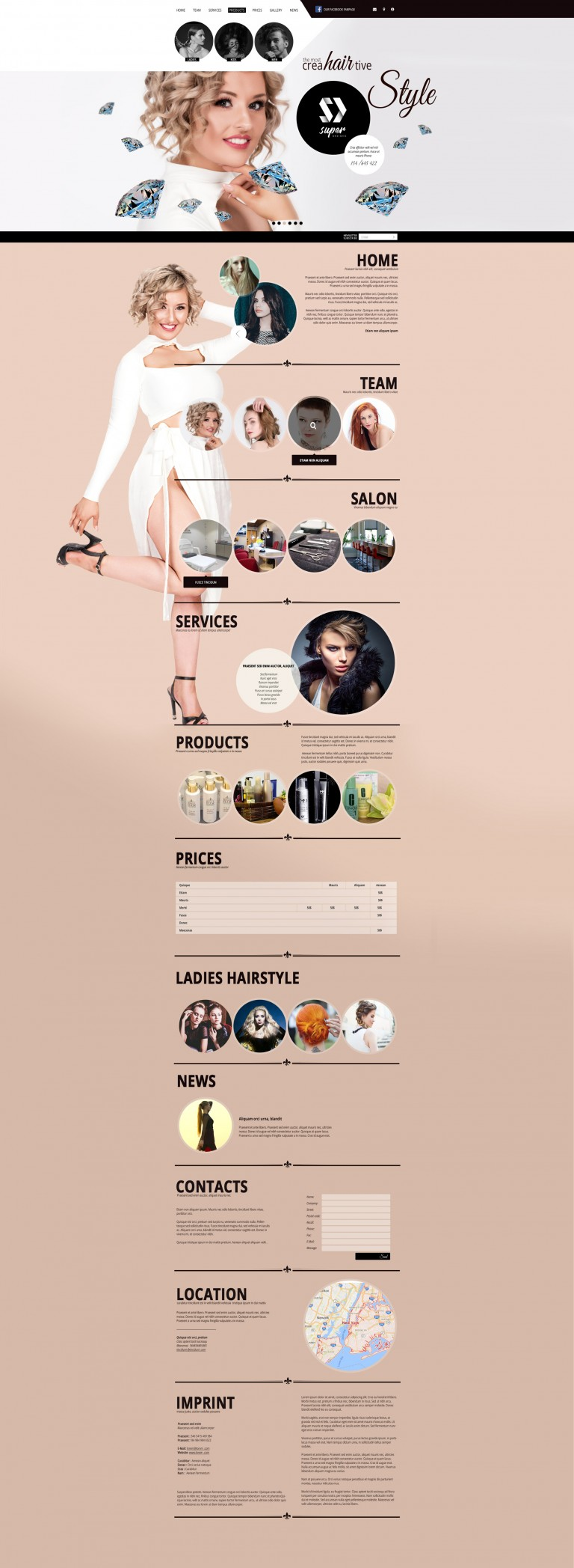 Creative HAIR & MAKEUP HTML Template