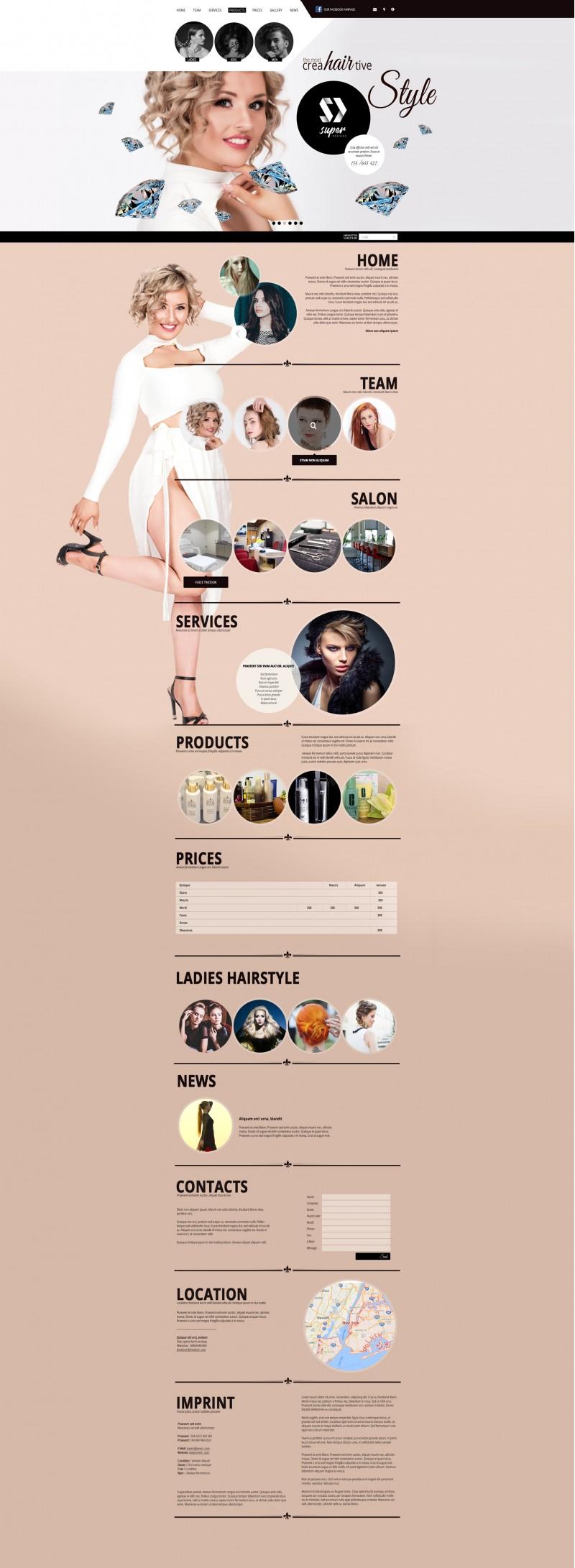 Creative HAIR & MAKEUP PSD Template