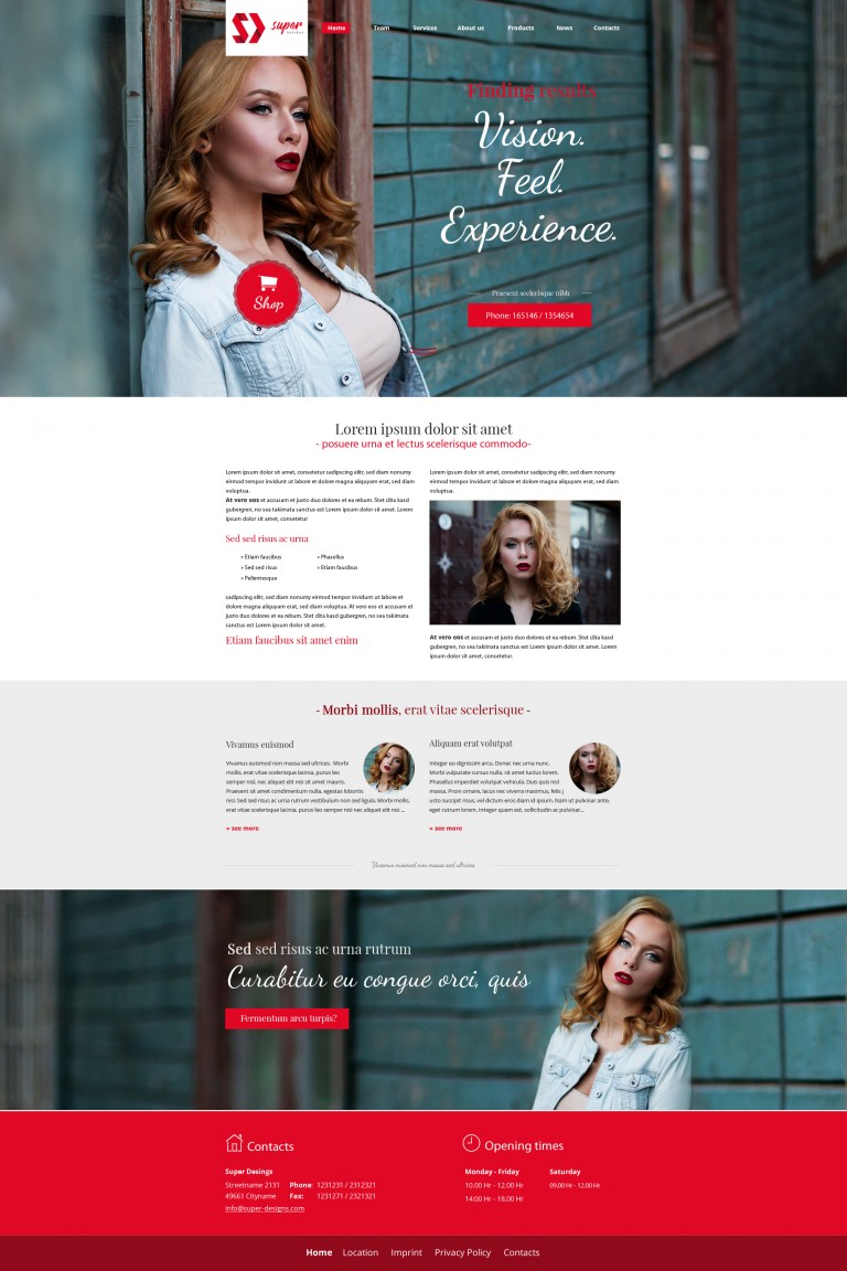 Impressive Hair & Makeup PSD Template