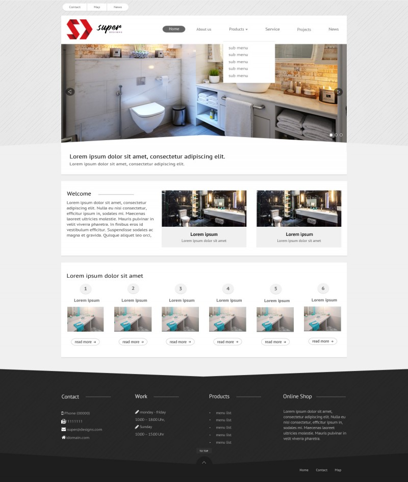 Stylish Sanitary Wares PSD Template