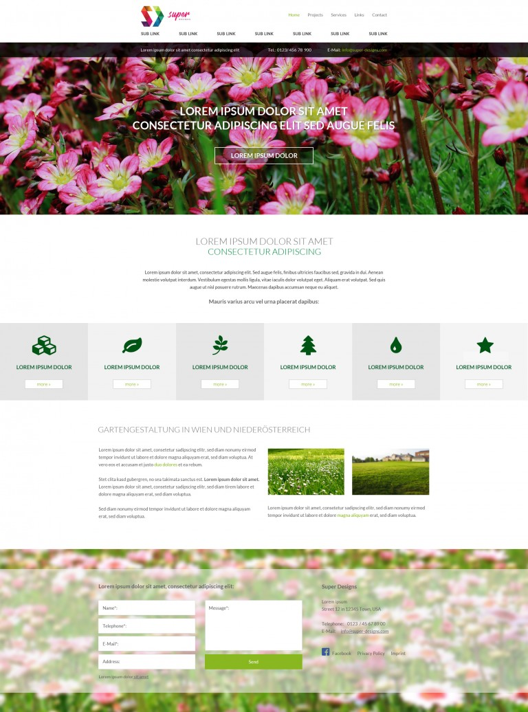 Flower Garden PSD Template