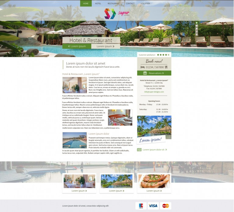 Paradise Resort HTML Template