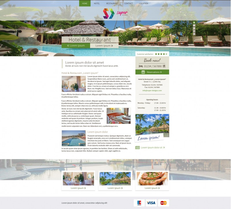 Paradise Resort PSD Template