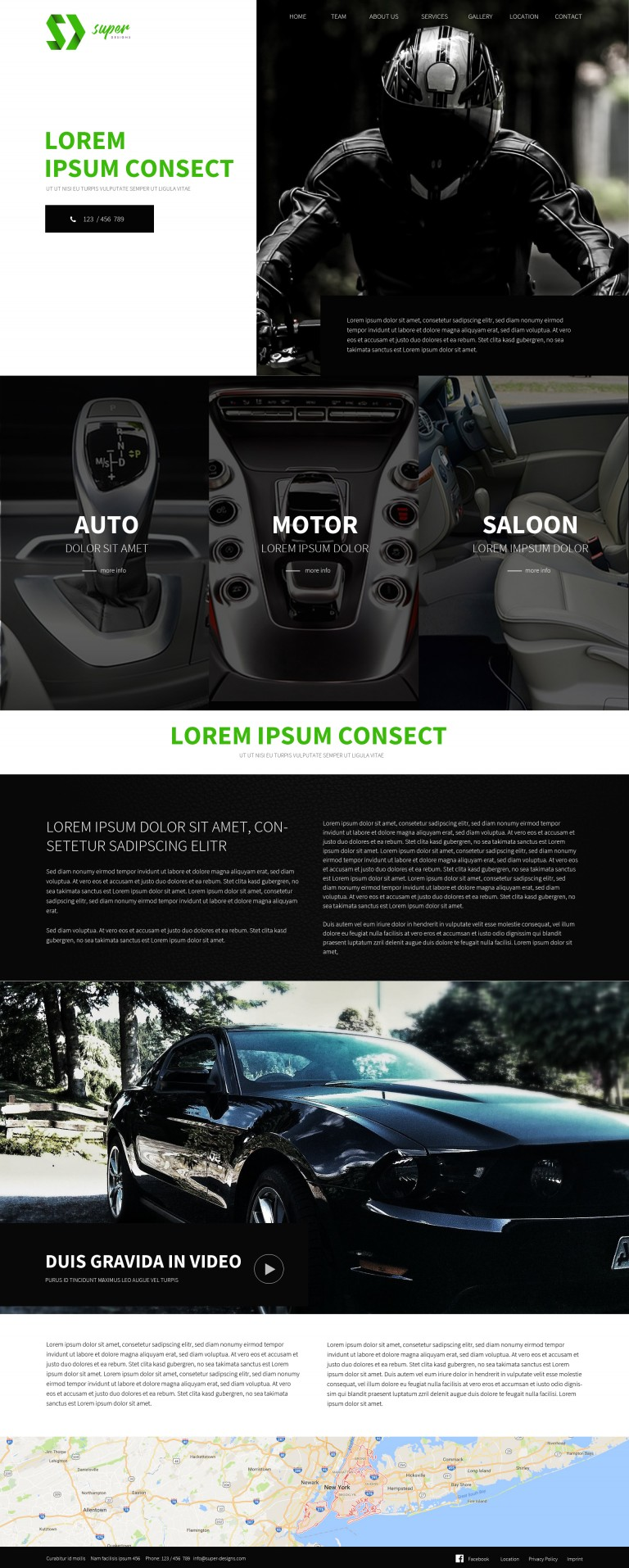 Dark Car Dealer PSD Template