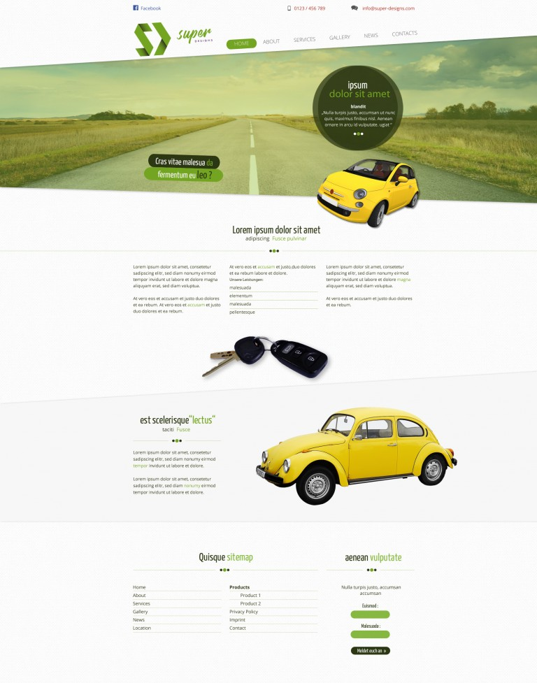 Auto Dealer PSD Template