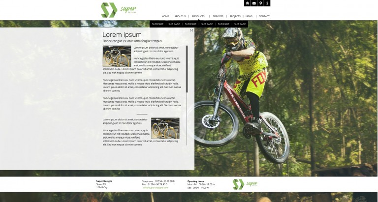 Inspiring Bike Shop HTML Template